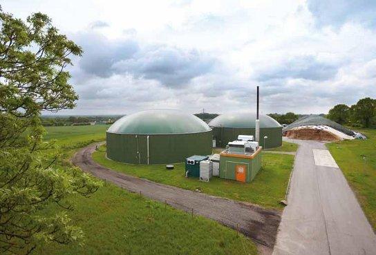 Site de méthanisation unité biogaz biométhane gaz vert silo de stockage énergie verte AgriCarbone